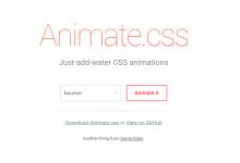 Animcate.css 动画特效样式中文说明文档