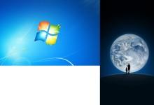Win7双显示器分屏显示不同壁纸