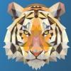 SVG动画低聚虎碎屑效果