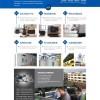 蓝色的机械设备制造科技公司网站html模板