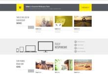 黄色网页设计公司响应式html5模板下载