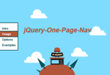 jquery单页网站导航插件One Page Nav 电商页面楼层效果
