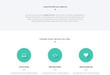 html5响应式单页网站模版