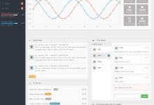 bootstrap网站后台UI模版