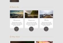 响应式食品咖啡类网站模板