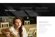 响应式摄影图集模特艺术展示类网站模板