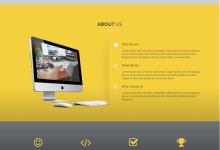 html5响应式黄色大屏企业单页网站模板
