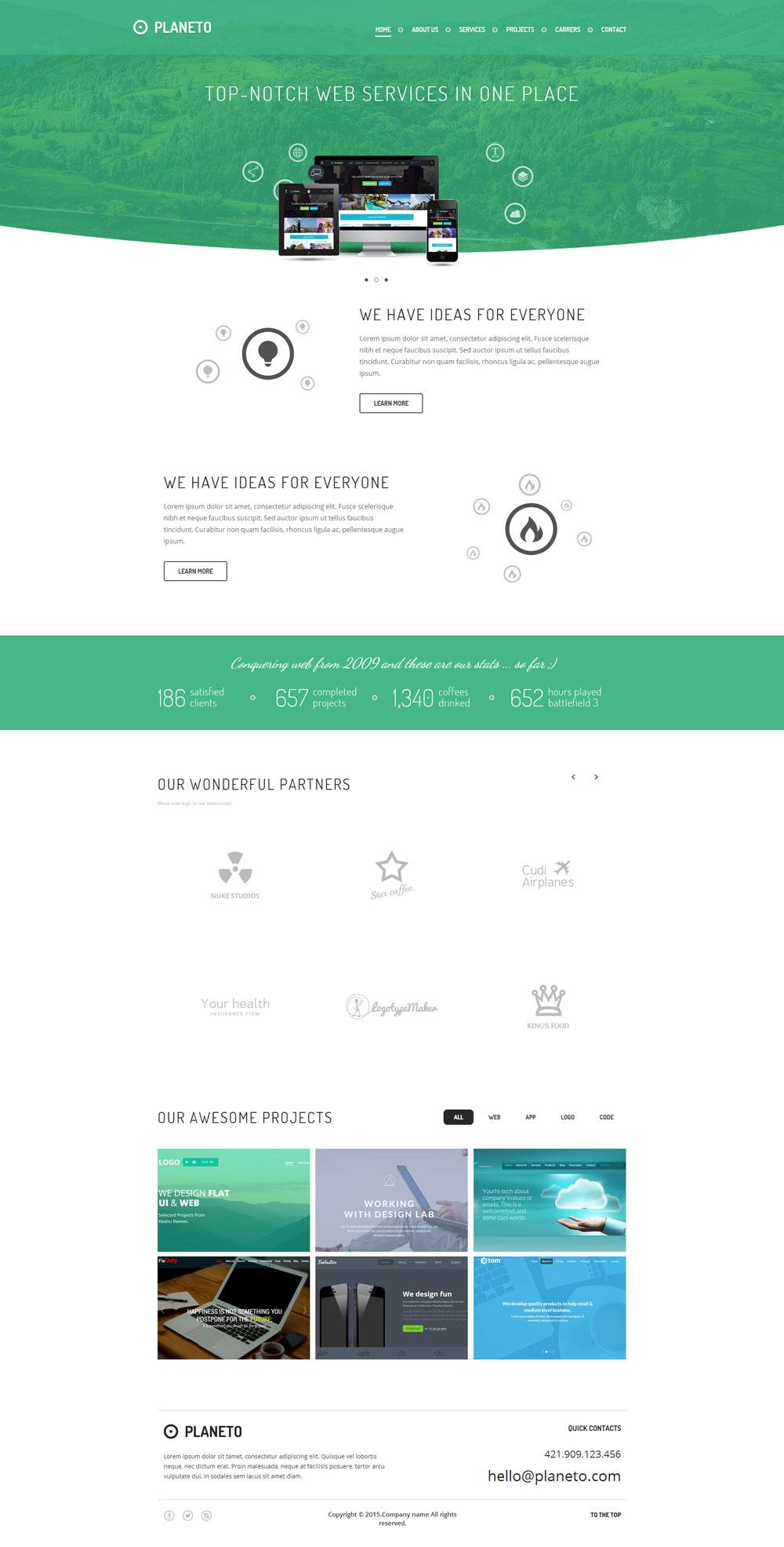 html5响应式绿色生态节能环保设计公司企业网站模版