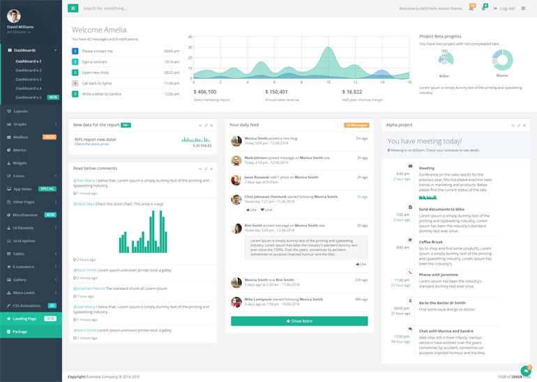 Bootstrap绿色全组件后台模板UI框架