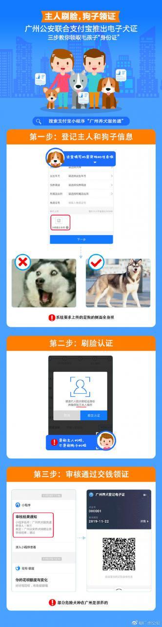 支付宝广州用户福音 现可刷脸认证领取狗证 -2